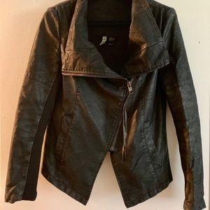 Faux suede black jacket